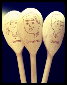 Thought these were pretty cool! The spoons are customised to have mine and my brothers names on them!